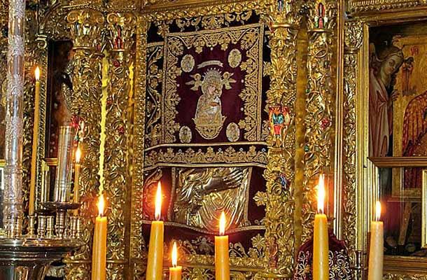 Монастырь Киккос на Кипр икона