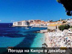 Какая погода на Кипре в декабре; температура воды и воздуха