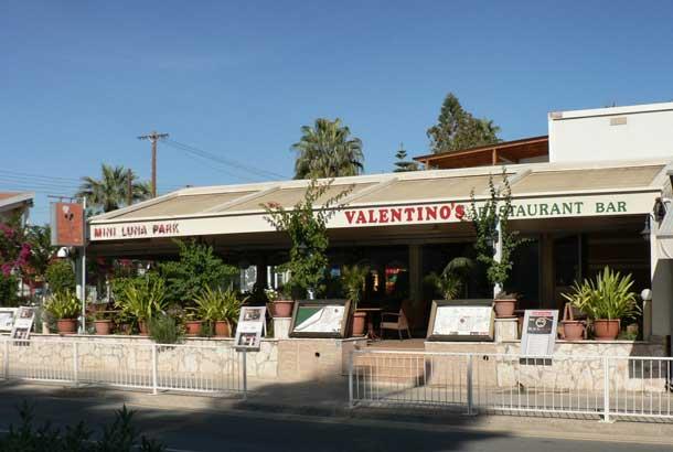 Семейный ресторан Valentinos в Айя Напе