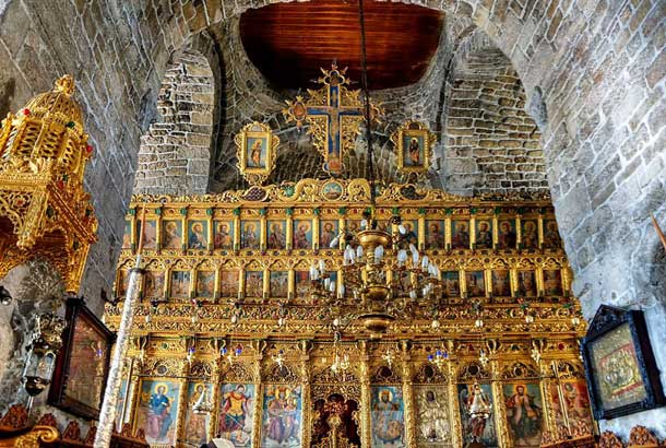 Иконостас в церкови Святого Лазаря Ларнака