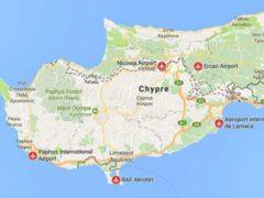 Международные аэропорты Кипра: список, названия, карта