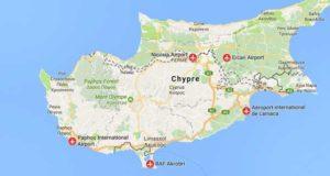Международные аэропорты Кипра карта