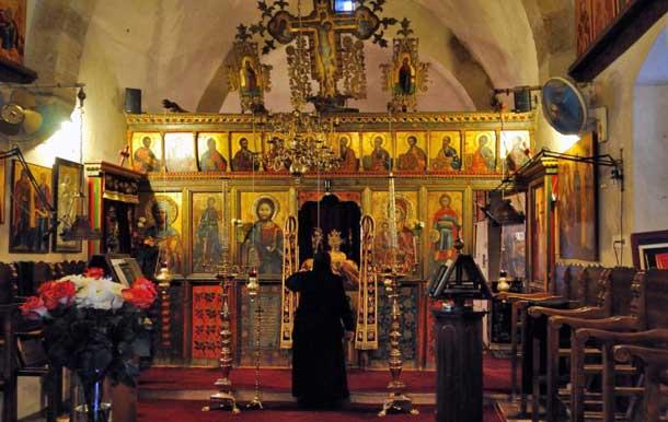 Иконостас в монастыре Святой Феклы