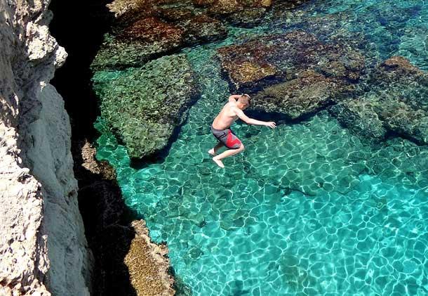 Прыжки с высоты на мысе Греко