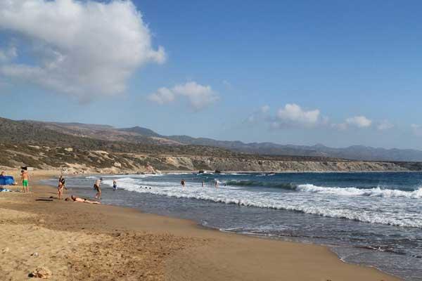 Пляж Лара около Акамаса