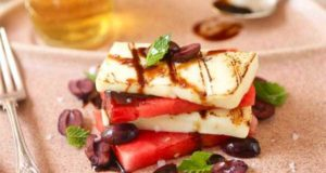 Кипрский сыр Халуми с арбузом