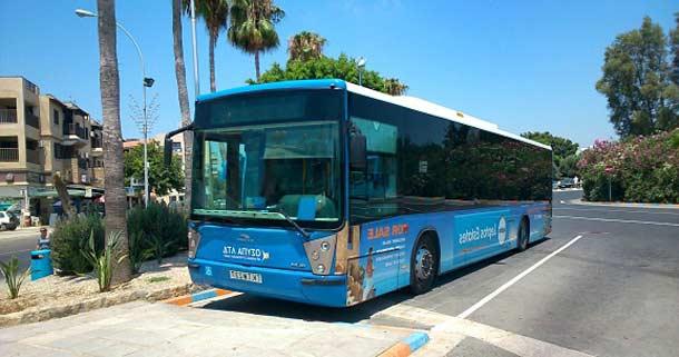 Автобус из Пафоса до Айя Напы