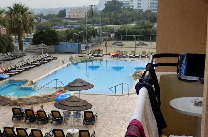 Вид с балкона отеля Atlantica Sancta Napa