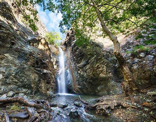Водопад Каледония на Кипре