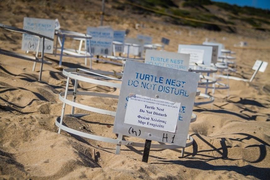 пляж Лара Бич Кипр